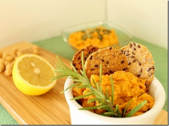 Pumpkin Hummus with Rosemary