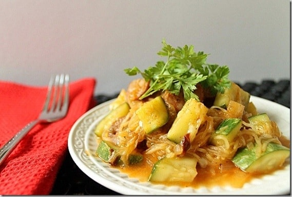 Chicken Sausage Enchilada Spaghetti Squash