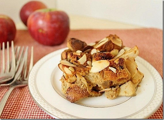 Panettone Apple Bread Pudding