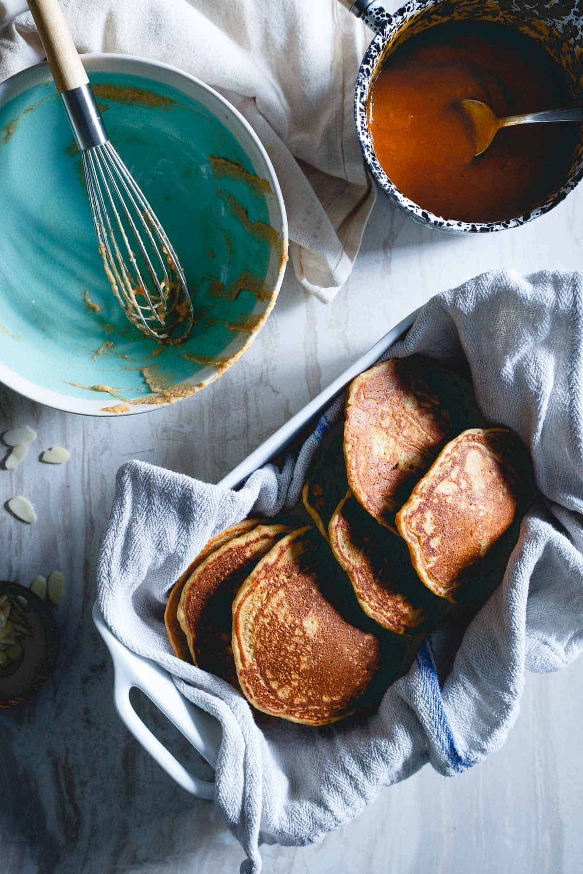 Whole wheat persimmon pancakes are a lovely way to celebrate winter fruit and cozy mornings.