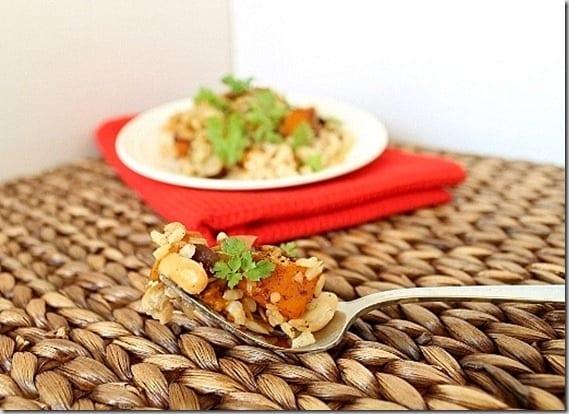 Butternut Squasha Rice Bake