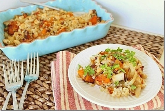 Butternut Squasha and Apple Rice Bake