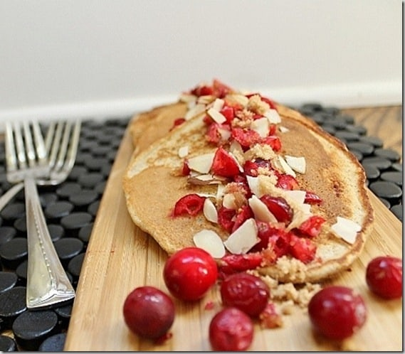 Cranberry Almond Pancakes