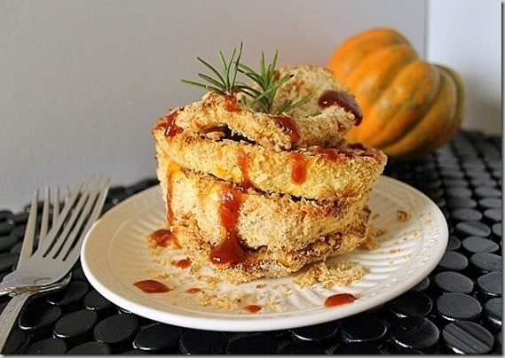 Crispy Baked Coconut Crusted Acorn Squash