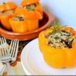 Cheesy Mushroom Stuffed Peppers