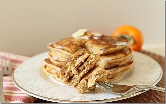 Persimmon Almond Pancakes