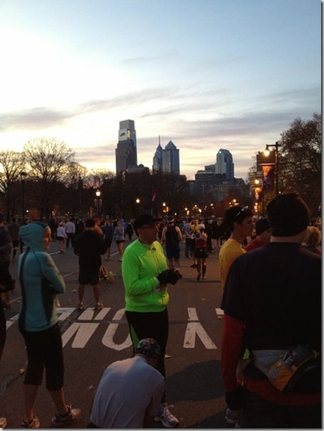 Philadelphia half marathon start