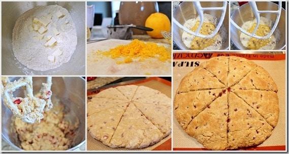 Pomegranate Orange Scones preparation
