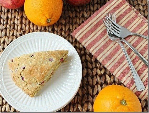Pomegranate Orange Scones