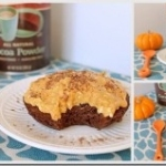 Pumpkin Chocolate Cake with Pumpkin Frosting