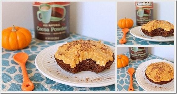 Pumpkin Chocolate Cake with Pumpkin Frosting