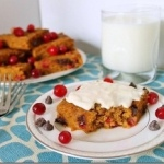 Pumpkin Cranberry Chocolate Chip Bars