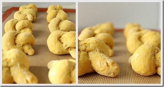 Pumpkin Rosemary Bread Knots