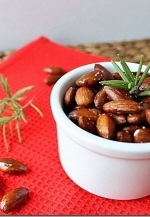 Spicy Rosemary Roasted Almonds