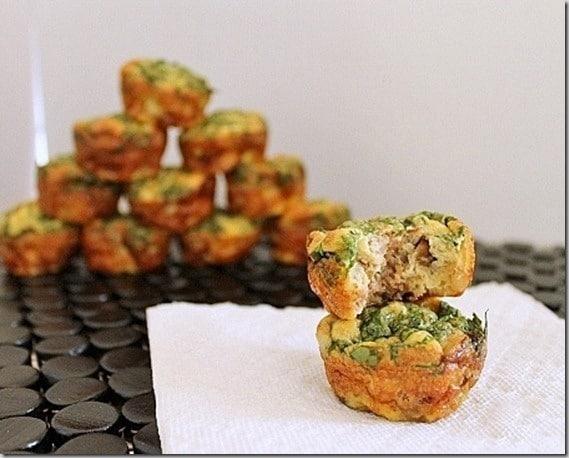 Thanksgiving Stuffing Frittata Bites