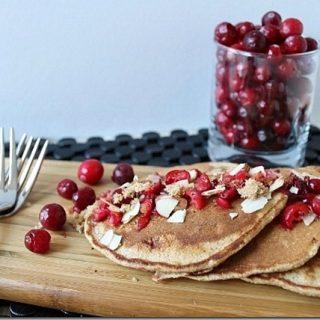 Cranberry Almond Whole Wheat Pancakes
