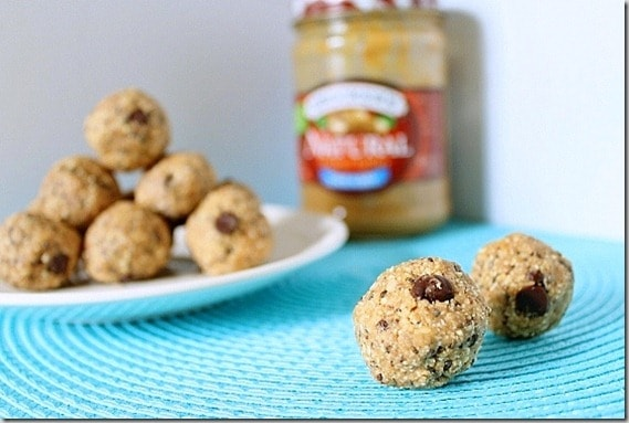 Peanut Butter Butterfinger Dough Balls