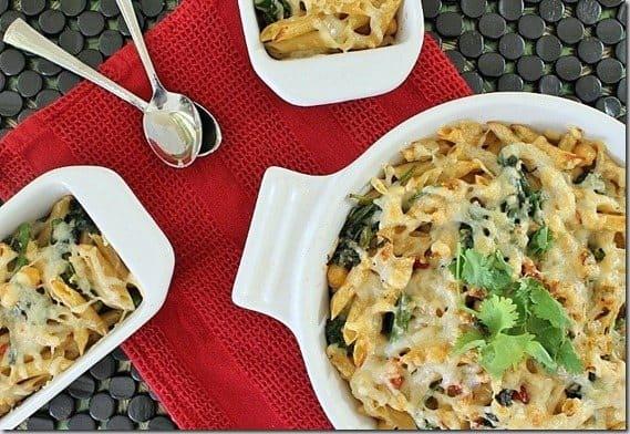 Broccoli Rabe Tomato Pasta Bake