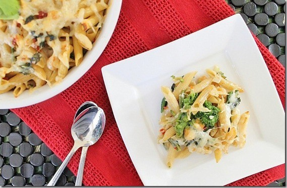Broccoli Rabe and Sun-dried Tomato Pasta Bake