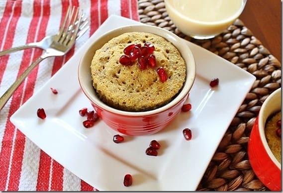 Eggnog Pomegranate Breakfast Bake