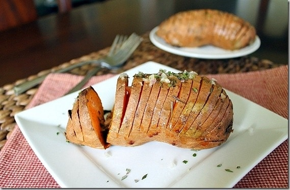 Hasselback Sweet Potatoes with Rosemary