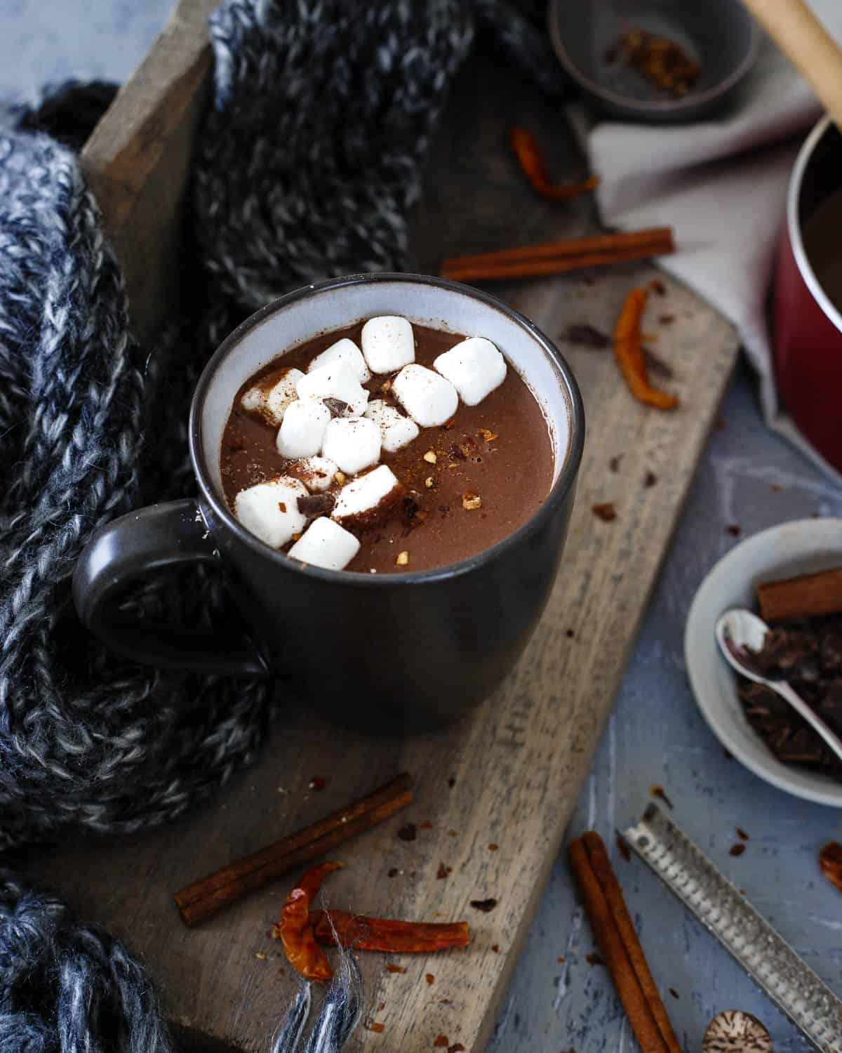 A quick recipe for rich, creamy, and slightly spicy Mexican hot chocolate. One sip and you'll never go back to those packets again.