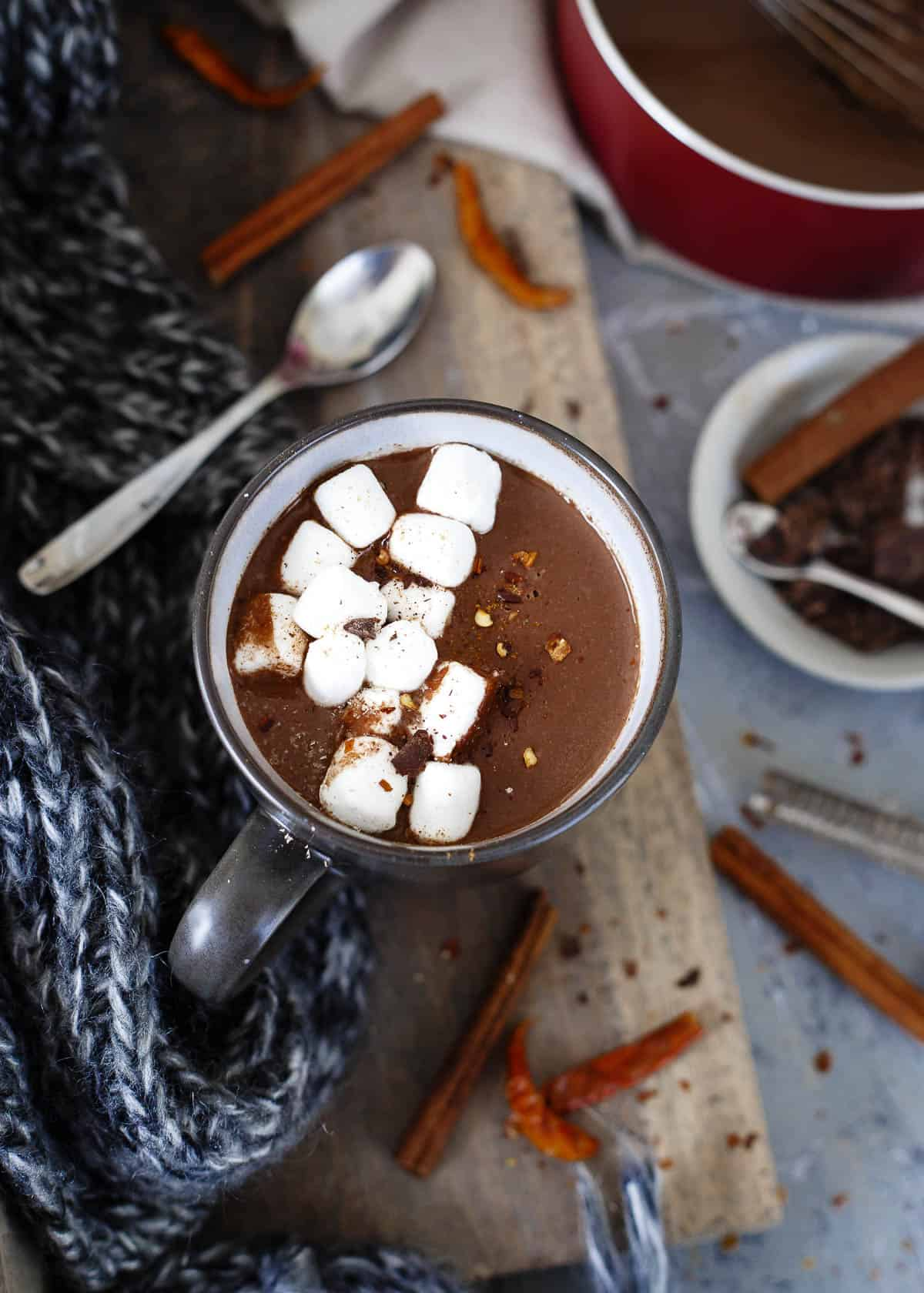 Once you make this Mexican hot chocolate you'll never want to drink the regular stuff again. Creamy, fragrant and just a touch spicy, it'll warm you up on the coldest winter day.