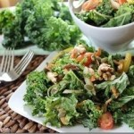 Pumped up Kale Salad with Hummus Dressing