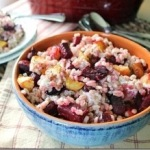 Roasted Beet and Squash Goat Cheese Barley