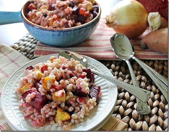 Barley with Roasted Beets and Squash