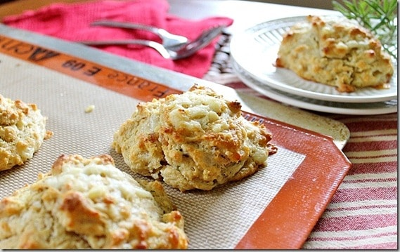 Rosemary Cheddar Bacon Biscuits