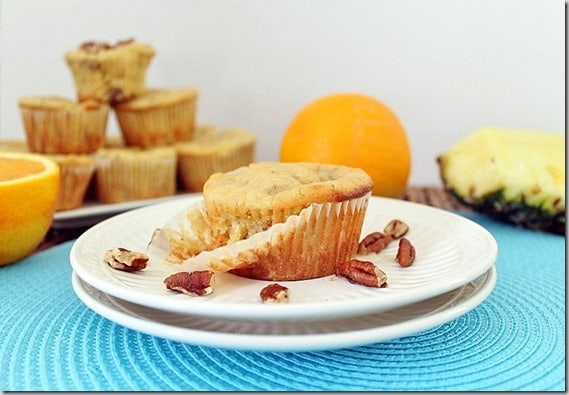 Pineapple Orange Tropical Muffins