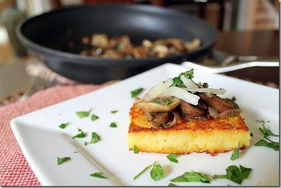 Polenta Squares with Mushroom Ragu