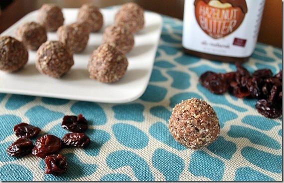 Cherry Chocolate Hazelnut Balls