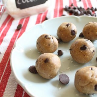 Chocolate Chip Coconut Cookie Dough Balls
