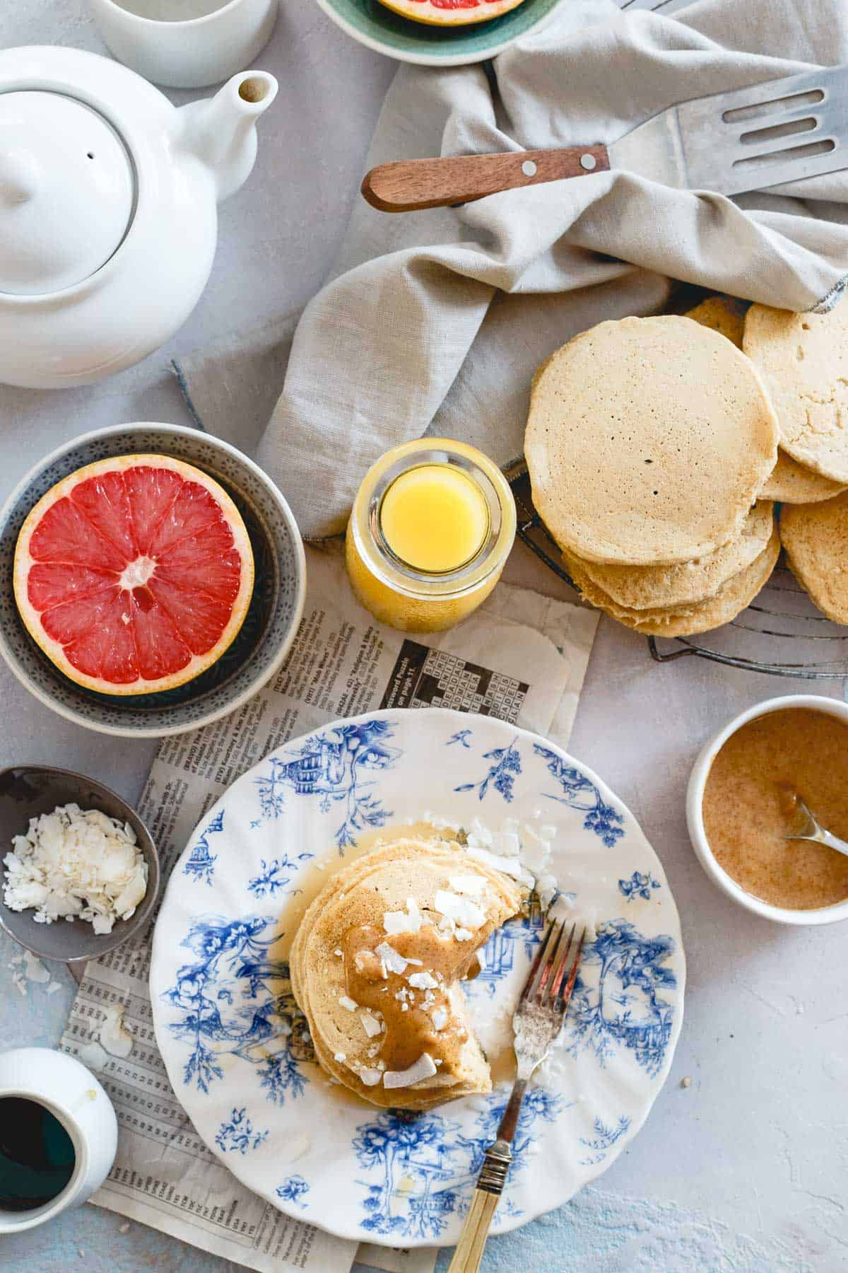 Put these coconut flour pancakes on your weekend breakfast plans, you won't regret it!