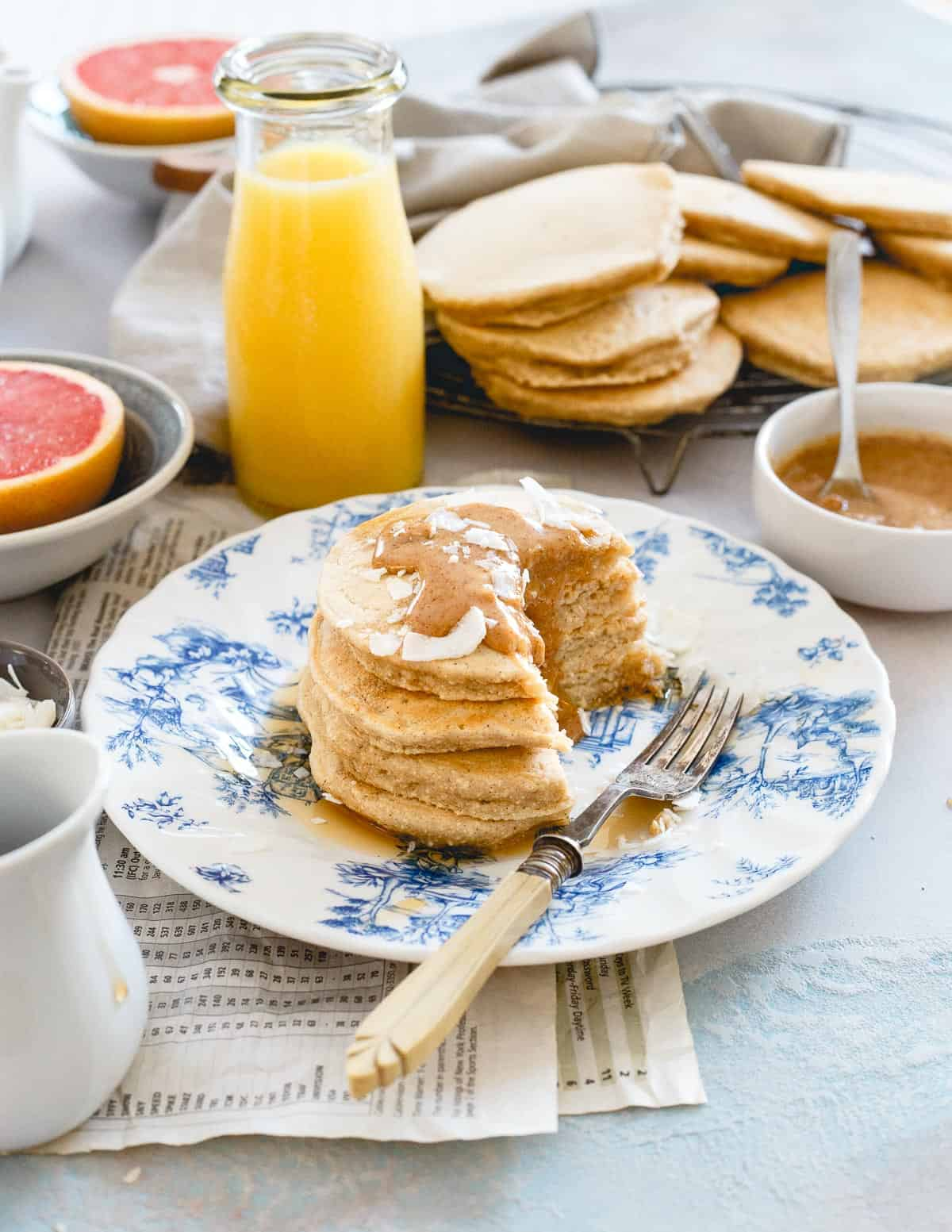 A few extra minutes to make these coconut flour pancakes from scratch are well worth it once you take the first bite!