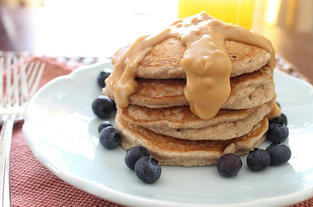 Coconut Flour Pancakes with Almond Butter Sauce