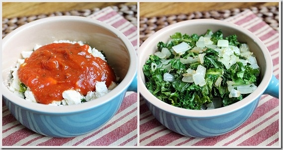 Kale and Feta Egg Bake ingredients 2