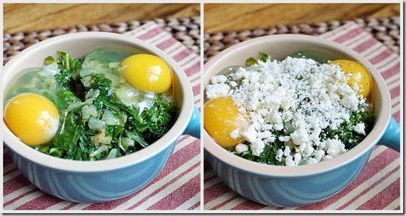Kale and Feta Egg Bake ingredients 3