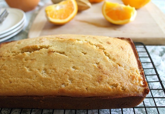 ... Contessa's orange pound cake. A sweet, citrus cake perfect with tea