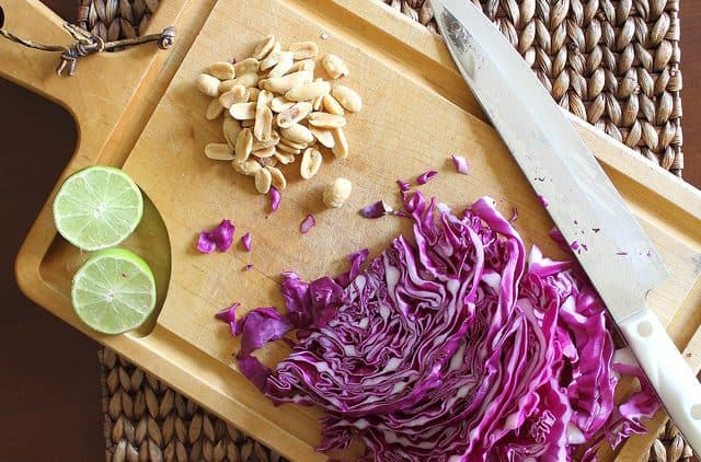 Roasted Cabbage with Peanut Lime Peanut