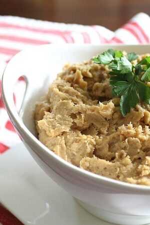 Roasted parsnip and caramelized onion puree