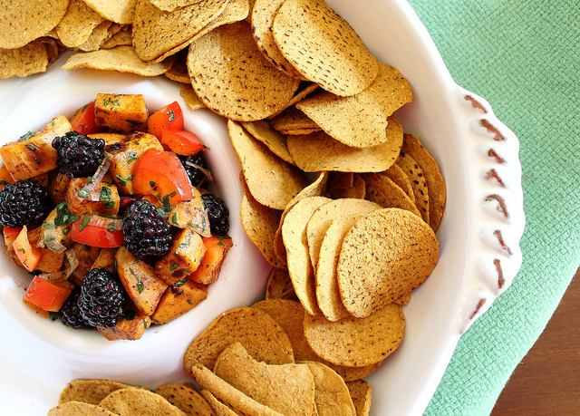 Sweet Potato Salsa with Blackberries