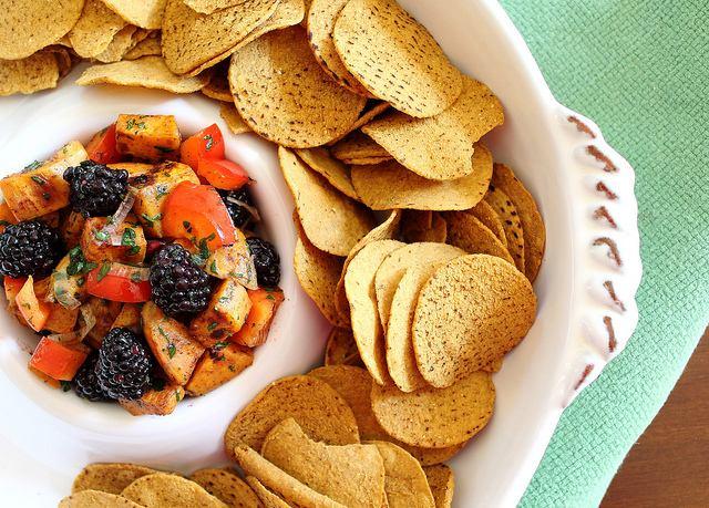 Sweet Potato Salsa with Blackberries