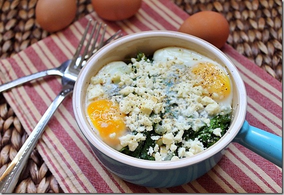 Kale and Feta Egg Bake