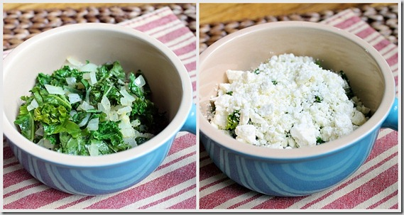 Kale and Feta Egg Bake ingredients