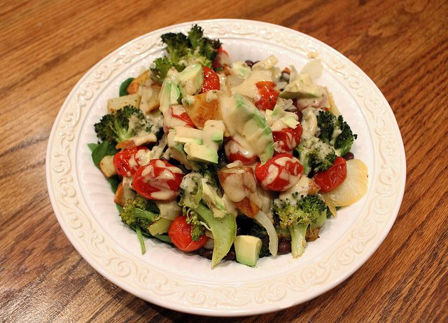 veggies with cheeze sauce