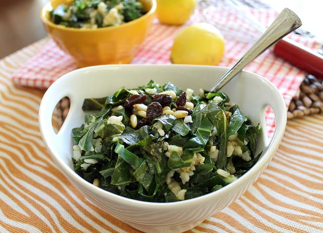 Spicy Collard Greens and Rice