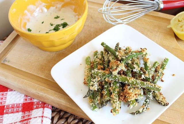 Lemon Dijon Asparagus Fries